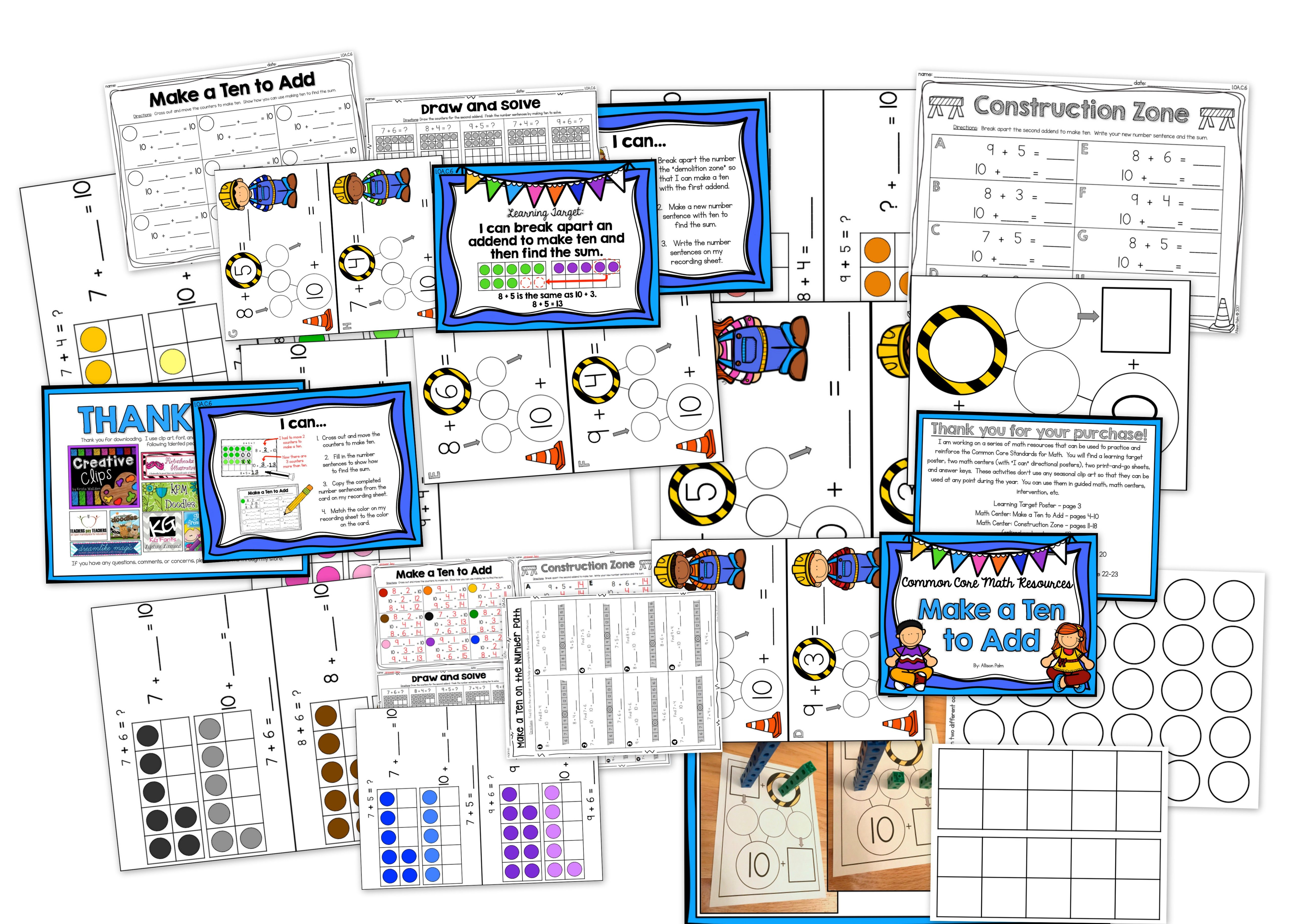 Make A Ten To Add Common Core Math Resources