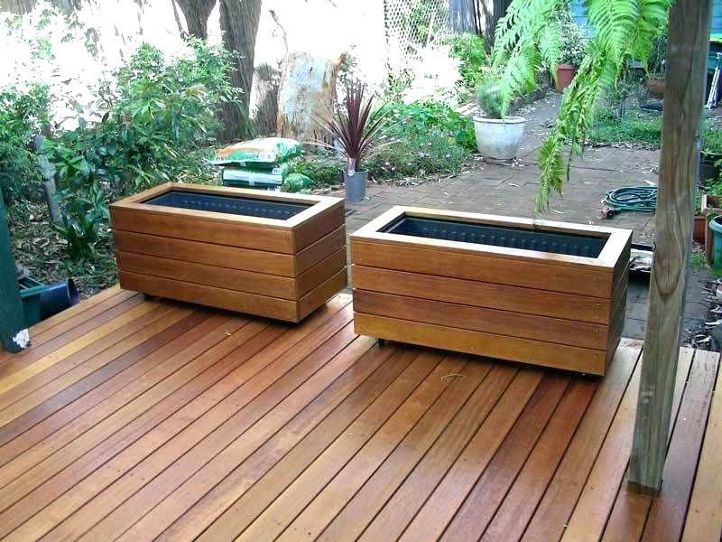 Wood Deck Flower Box Ideas Planter Boxes Deck Planters Deck Planter Boxes