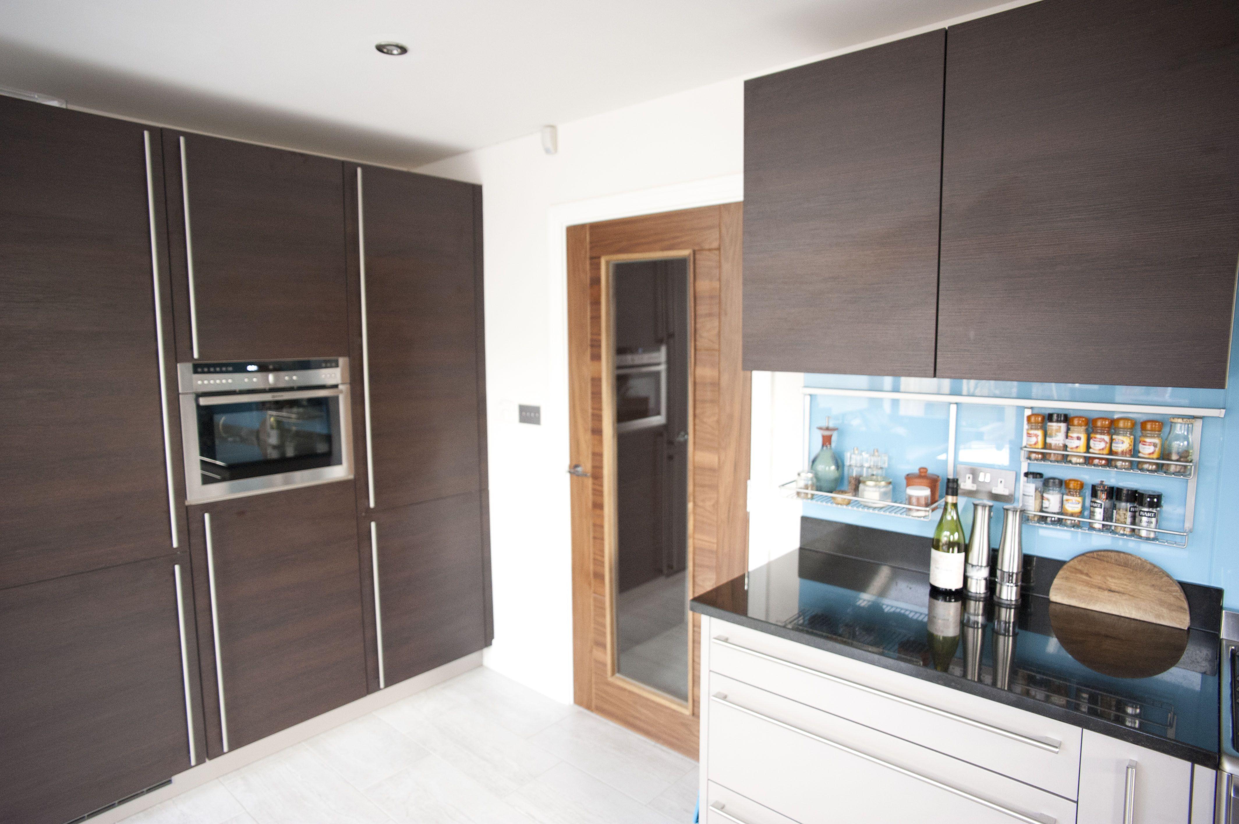 This Nolte kitchen features a combination of grey Manhattan Uni ...