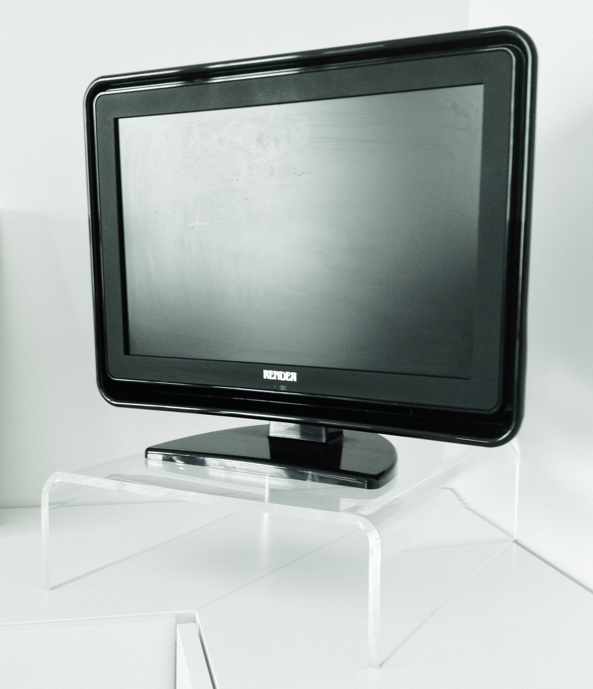 Acrylic Stand For Tv Plasma And Desktop Monitor Design  # Maison En Ecran Plasma