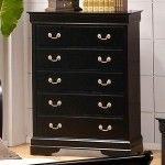 $390.00  Coaster Furniture - Louis Philippe 5 Drawer Chest in Deep Black - 201075