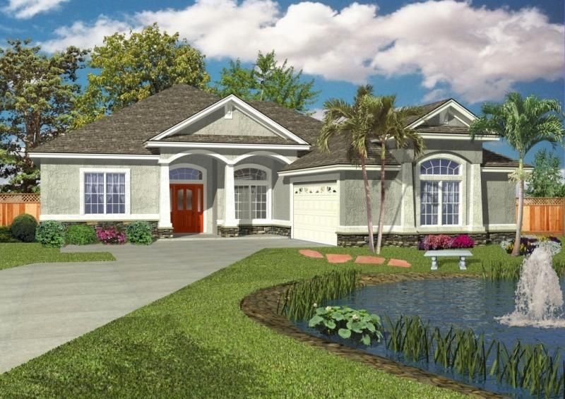 House Plan 4766 00139 Ranch Plan 1 865 Square Feet 3 Bedrooms 2 Bathrooms Mediterranean Style House Plans Florida House Plans Monster House Plans