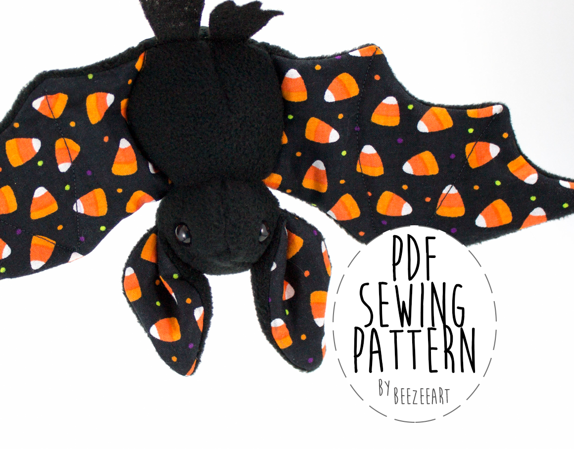 the bat sewing pattern is now available and just as a note