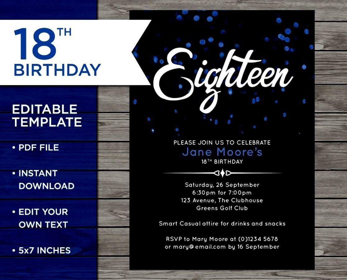 Einladungen 18 Geburtstag