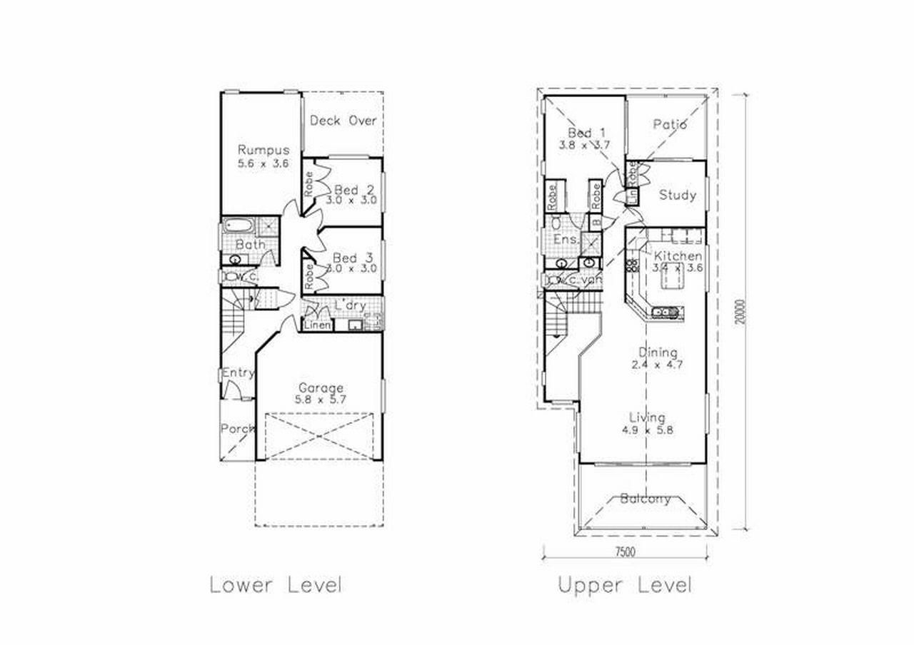 Narrow Lot House Plans Two Story Lot Home Plans