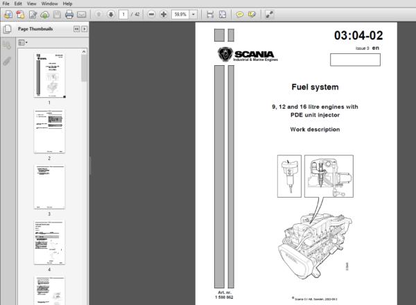 Jcb Engines Scania 9 12 16 Pde Unit Injector 1588862 Workshop Manual Pdf Download Manual The Unit