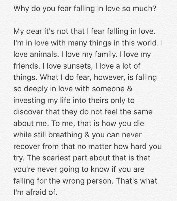 Why Do You Fear Falling In Love? #typewriter #falling