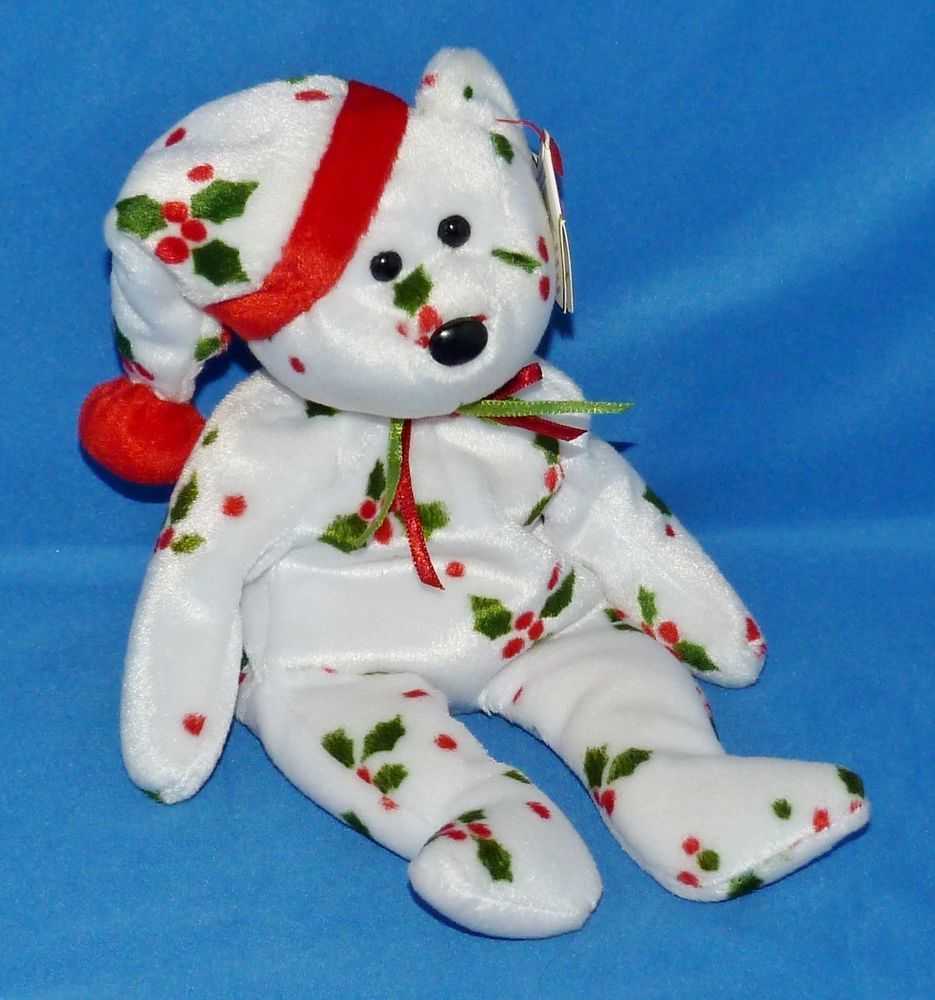 MWMT Protectors RETIRED TY Beanie Baby//Babie 1998 Holiday Teddy