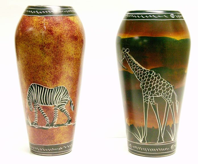African Vases African Decor Pinterest Africans And Giraffe