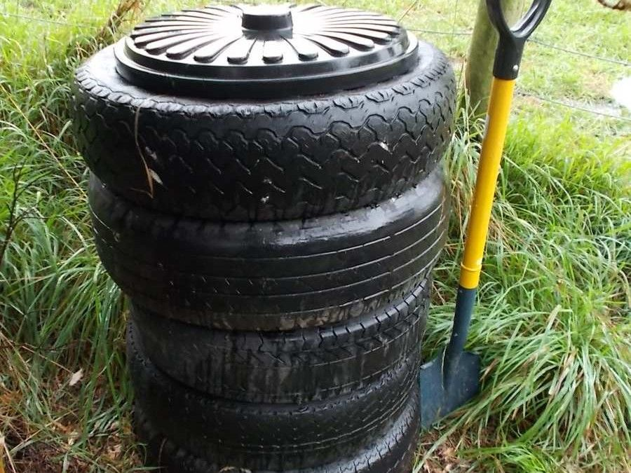 Car tyre compost bin homemade compost bin compost bin