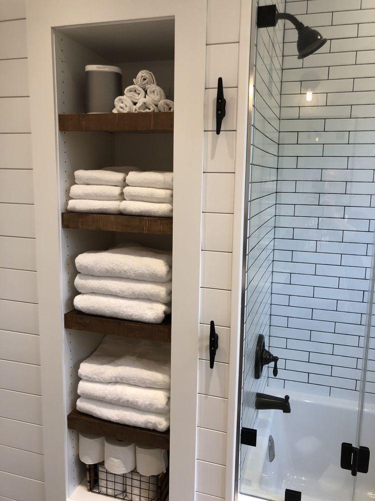 Shiplap Corner Against Tile Small Bathroom Remodel Bathroom Makeover Bathrooms Remodel