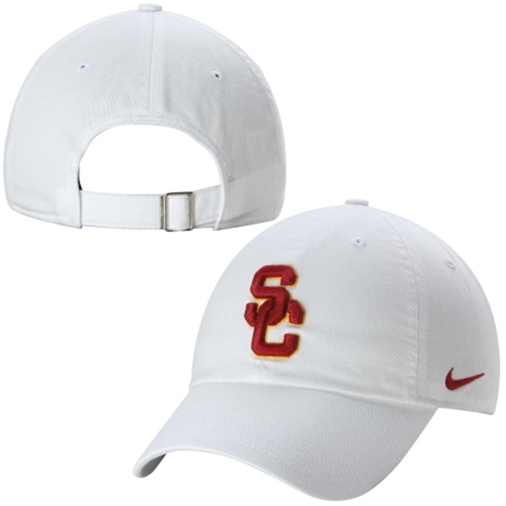 2df528bd Women's Nike White USC Trojans Campus Adjustable Performance Hat ...