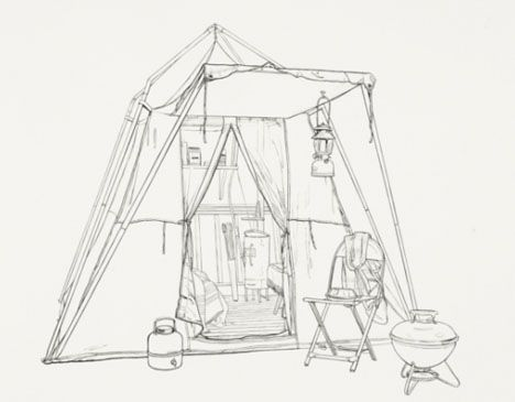 Shelter Tent Design Drawing