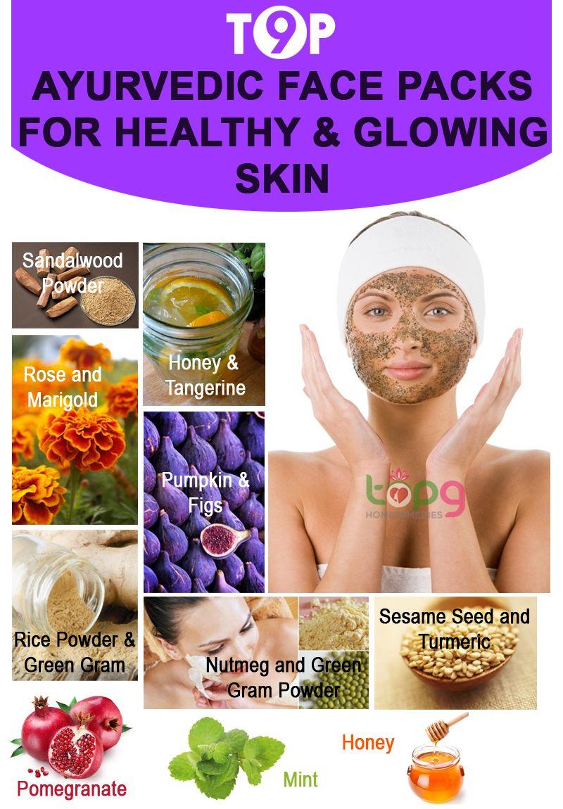 Top 10 Ayurvedic Face Packs for Healthy & Glowing Skin..  Healthy