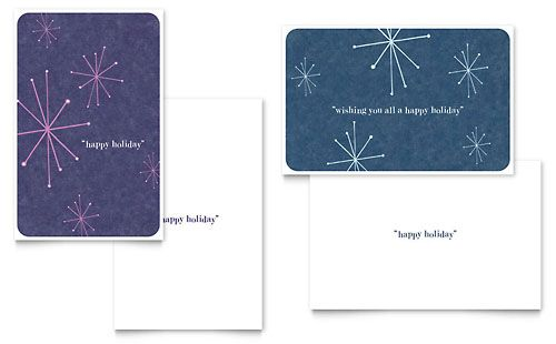 Snowflake Wishes Greeting Card Template by @StockLayouts Holiday - greeting card template
