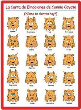 coyote a la carte PRODUCT IN SPANISH: La Carta De Emociones De Connie Coyote (Chart