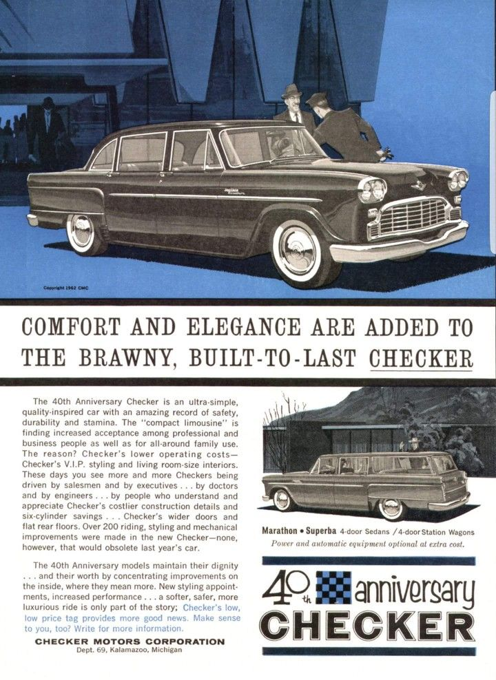 Checker ad | Cars | Pinterest | Cars and Dream cars