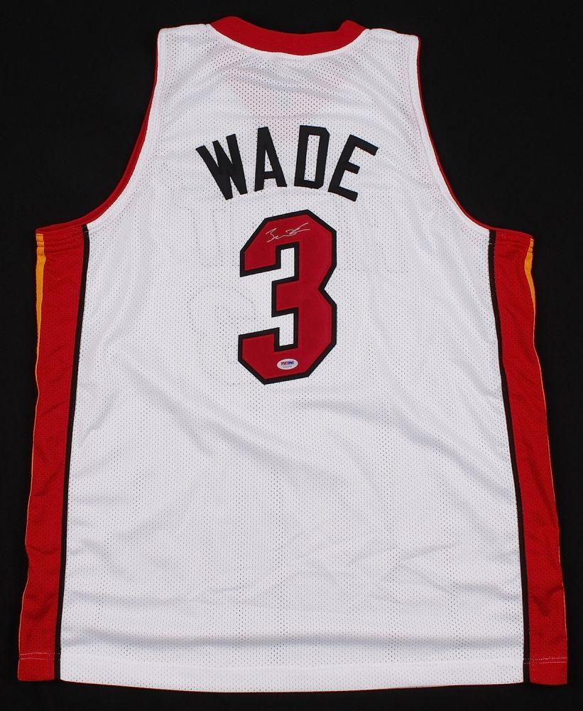 b7823b6deadc Dwyane Wade Signed Heat Jersey (PSA)