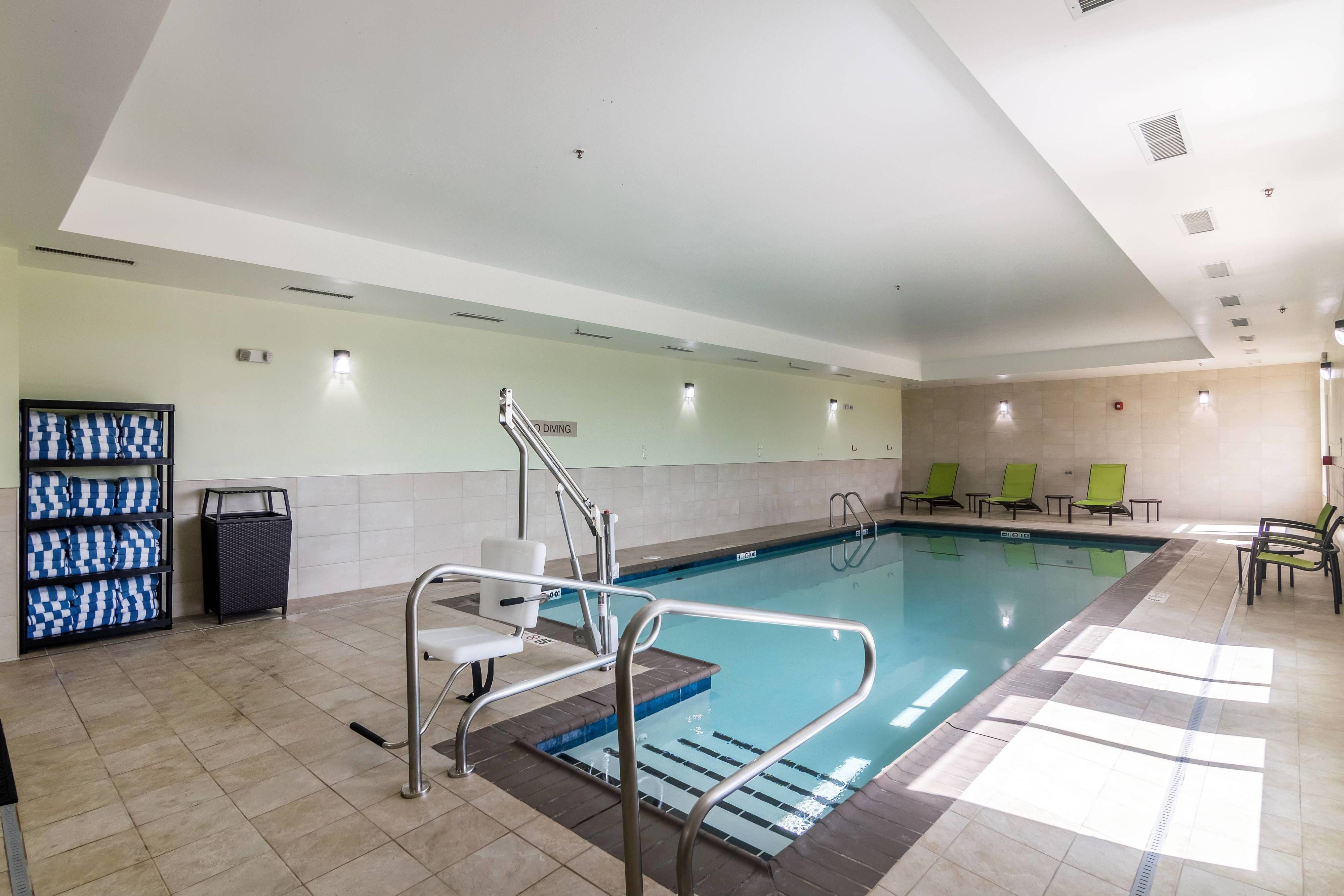 Springhill Suites Oklahoma City Downtown Bricktown Indoor Pool Holiday Happy Hotels Indoor Pool Springhill Suites