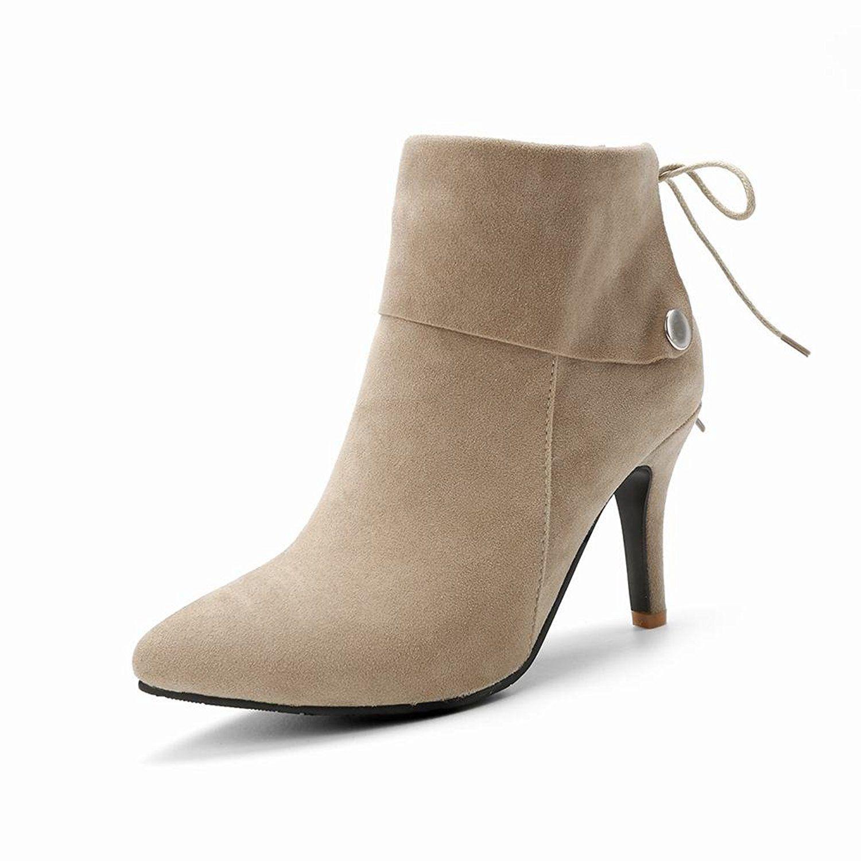 Women's Chic Point Toe High Heel Martin Dress Boots