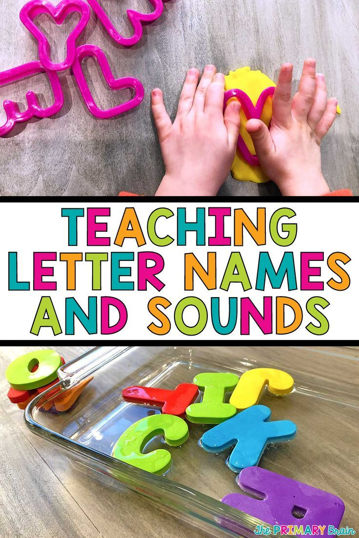 Teach your children from toddler age through kindergarten their letter names and sounds using these fun ways! Learn the alphabet through play. Read more on my blog theprimarybrain.com #literacy #alphabet #letternames #lettersounds
