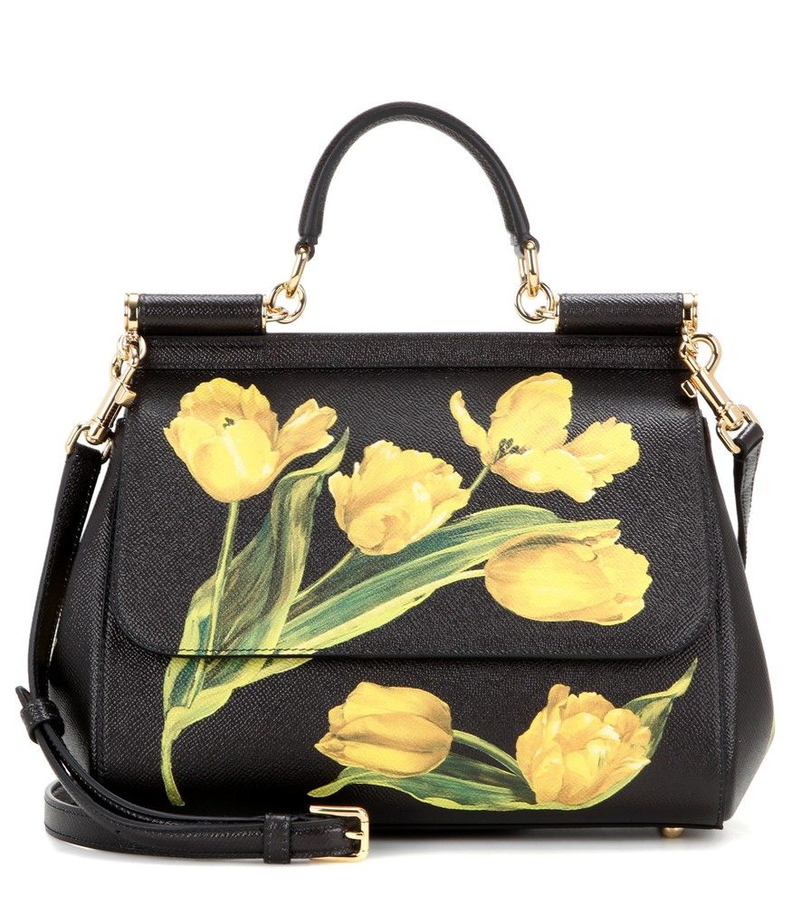 b0b80a6371 Dolce   Gabbana - Miss Sicily Medium printed leather shoulder bag - Dolce    Gabbana takes a fresh to florals for the new season with this oh-so  covetable ...