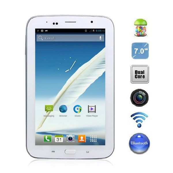 Android 4 1 Gt5100 7 0 Inch Mtk6577 Dual Core Smart Phone Tablet