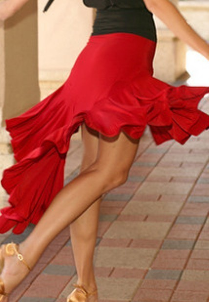 Red latin ballroom dresses