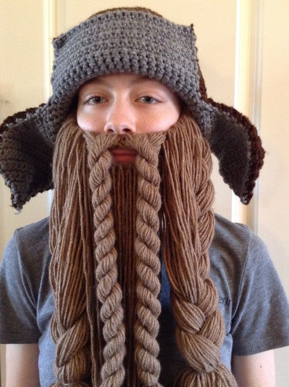 Crochet Bofur Hat. Dwarf Hunter Trapper Hat and Beard by TaylorFour ...