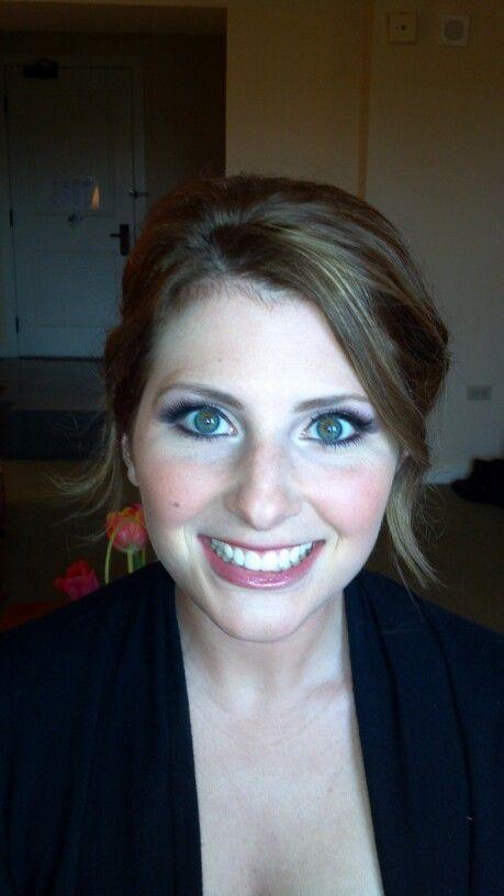 Bridal Makeup #purples #vanilla pigment #MAC #cultured lipgloss Makeup by Wendy Zerrudo