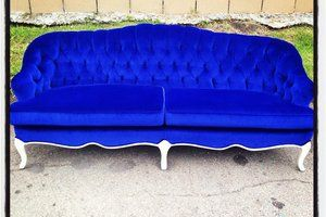 Antique Couch Reupholstered Leather