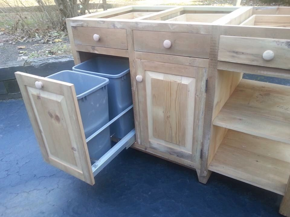 Reclaimed Barn Wood Kitchen Island With Drawers Cabinet Slide Out - Etsy kitchen island
