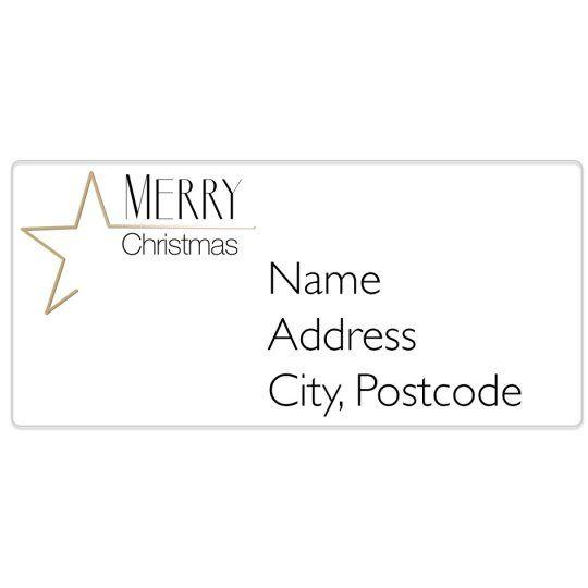 Christmas Star Avery Template Designs For Christmas Christmas