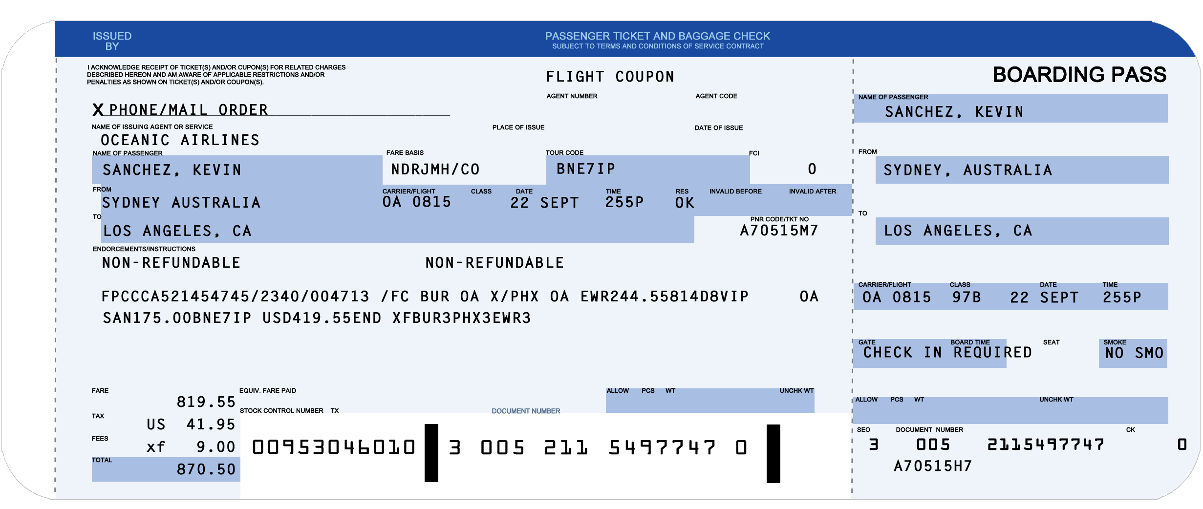 Boarding Pass Template