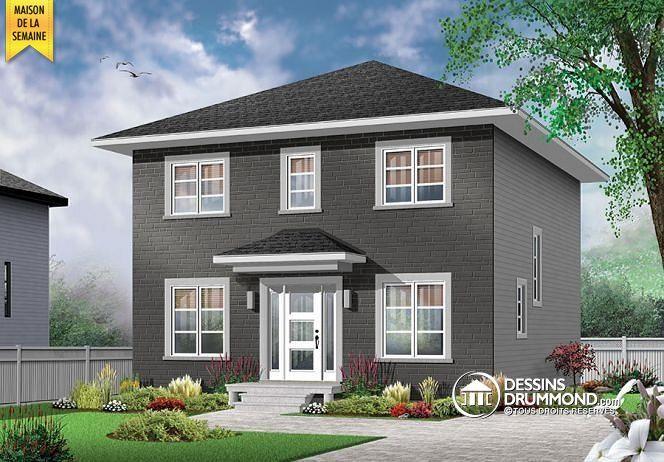 Plan w bon prix pour maison contemporaine avec chambres et