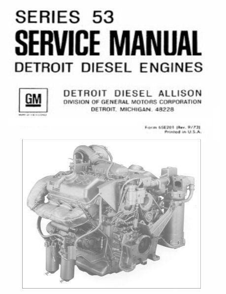 Detroit Diesel Allison Series 53 6v-53 Repair Service Workshop