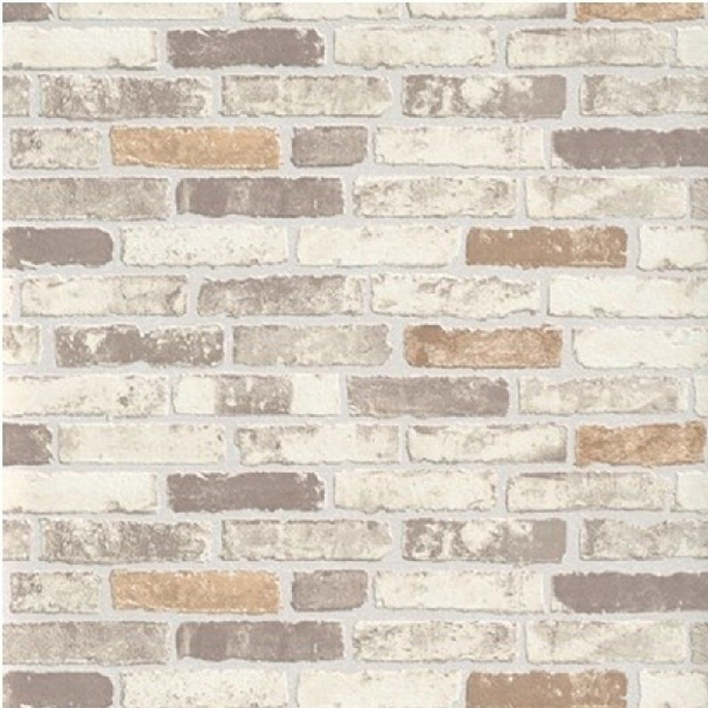 Erismann brix brick wall effect embossed textured for Wallpapered walls