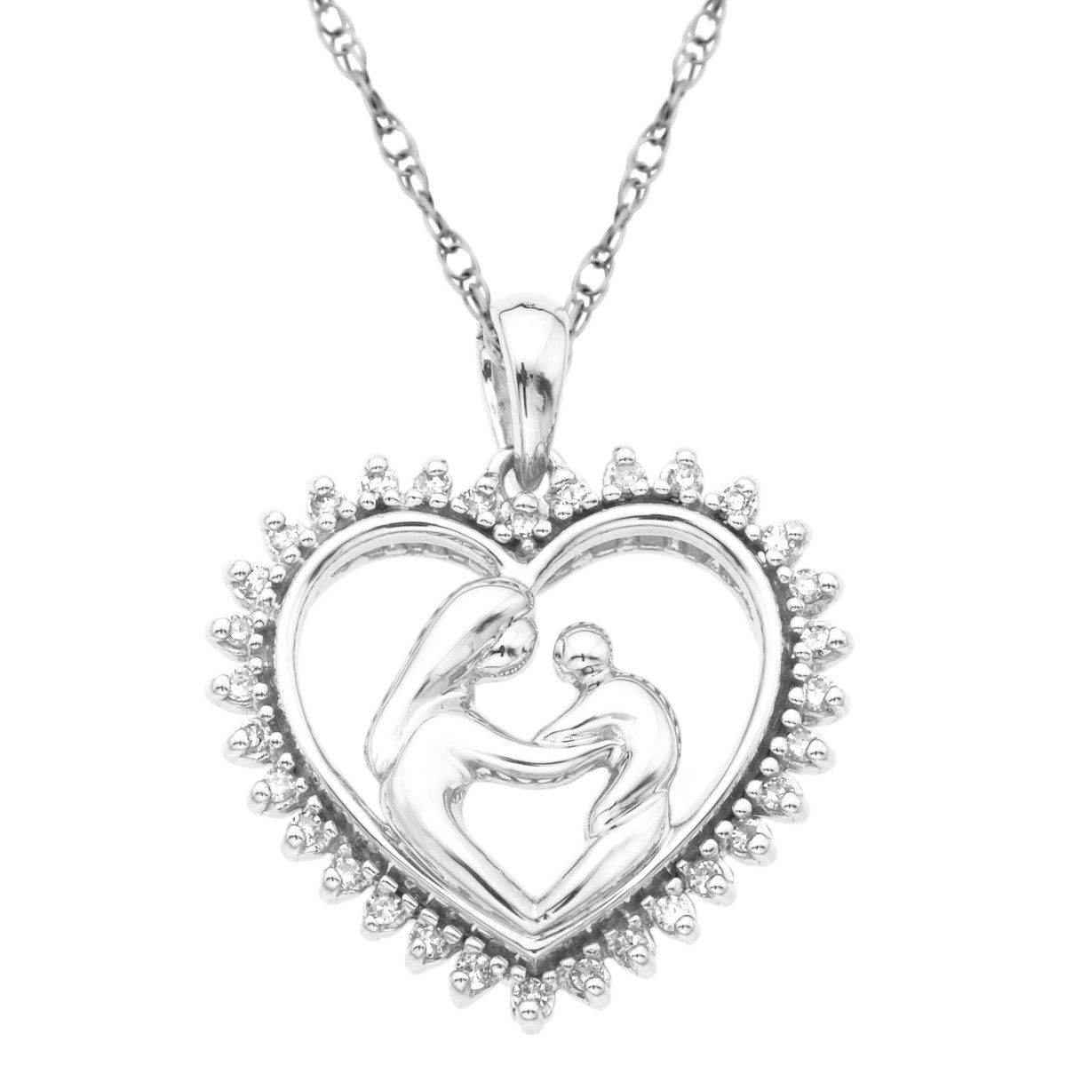 Mothers jewel heart pendant sterling silver gift pinterest coupons