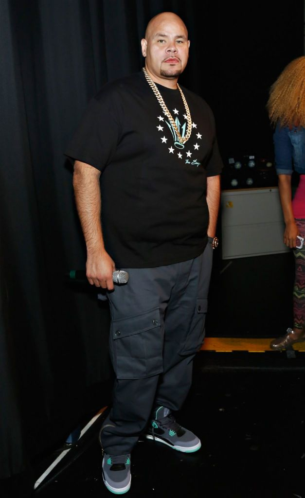 6e3e78804fd7cf Fat Joe wearing Air Jordan IV 4 Retro Green Glow