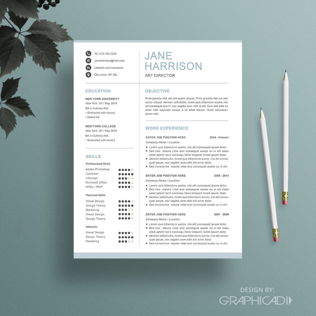 Creative Recruiter Resume Design Templates Iwork Pages Free