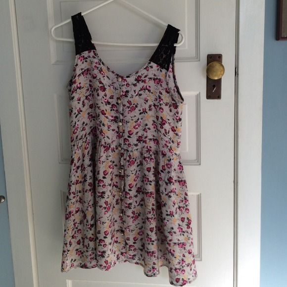 "Spotted while shopping on Poshmark: ""Floral dress w/ lace straps""! #poshmark #fashion #shopping #style #Urban Outfitters #Dresses & Skirts"