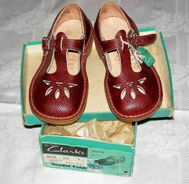 9da515c4a4d 1950s red vintage children s Clarks T Bar shoes - inspiration ...