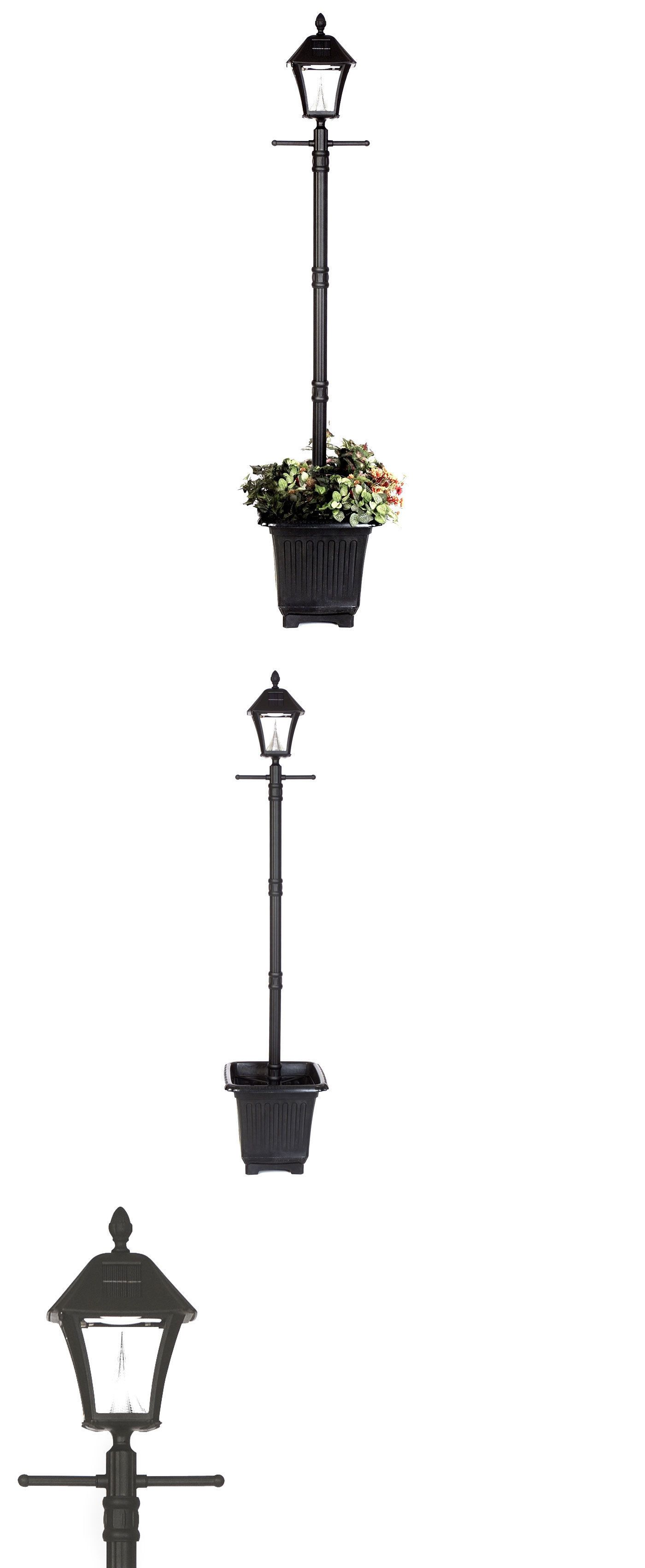 three for post with lamp fixtures landscape planter boys light beach outdoor home solar