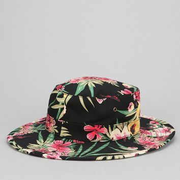 7692ba15166 OBEY Boonts Floral Wide-Brim Bucket Hat - Urban Outfitters