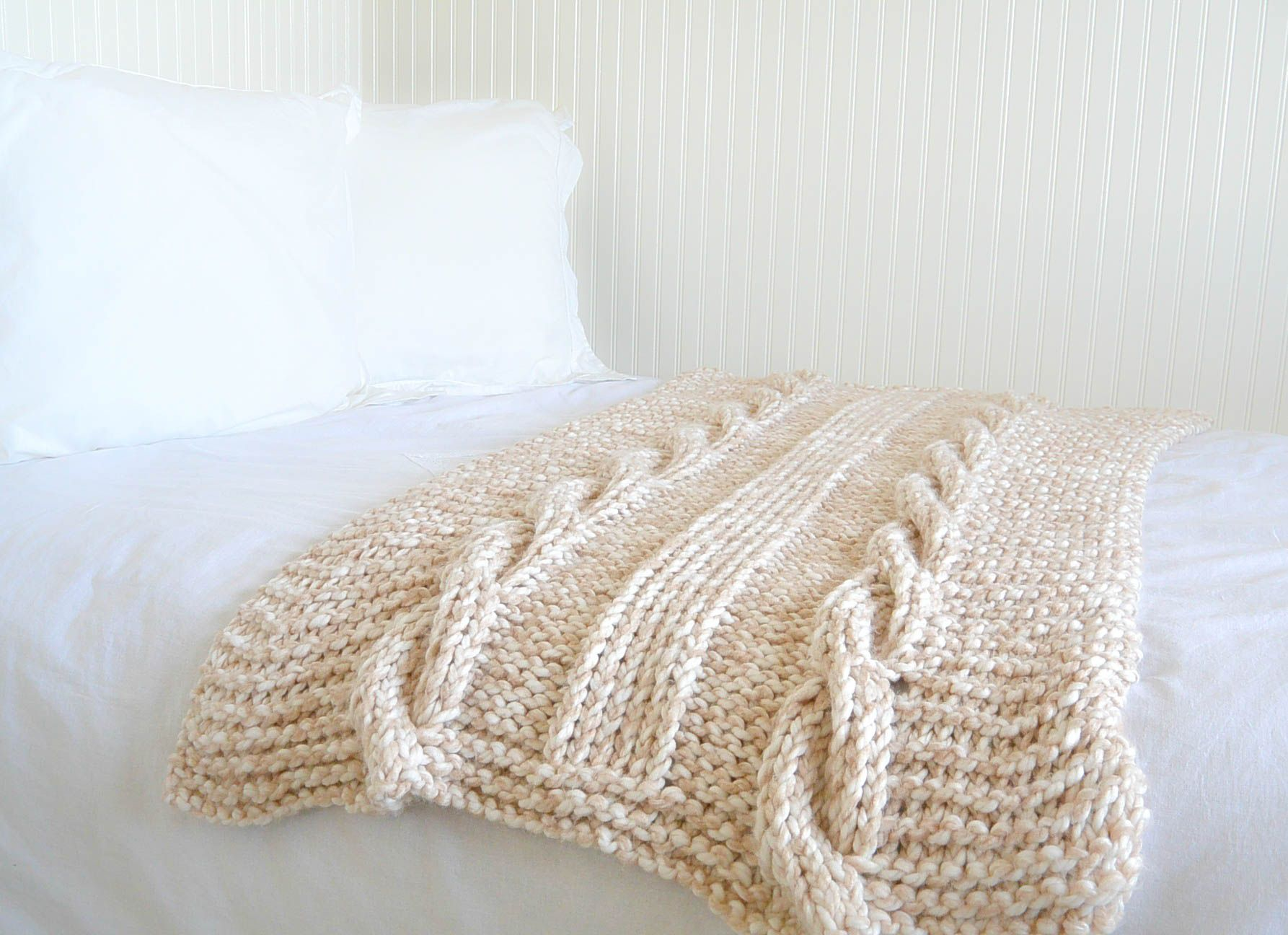 Cable Knit Afghan Pattern Easy | Knitting and crocheting | Pinterest ...