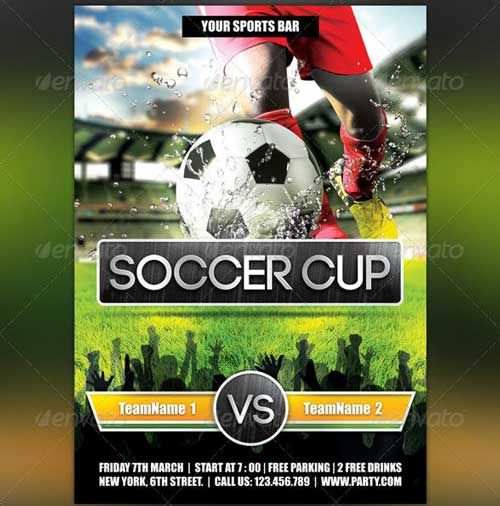 Football Flyer Template  Design    Flyer Template And