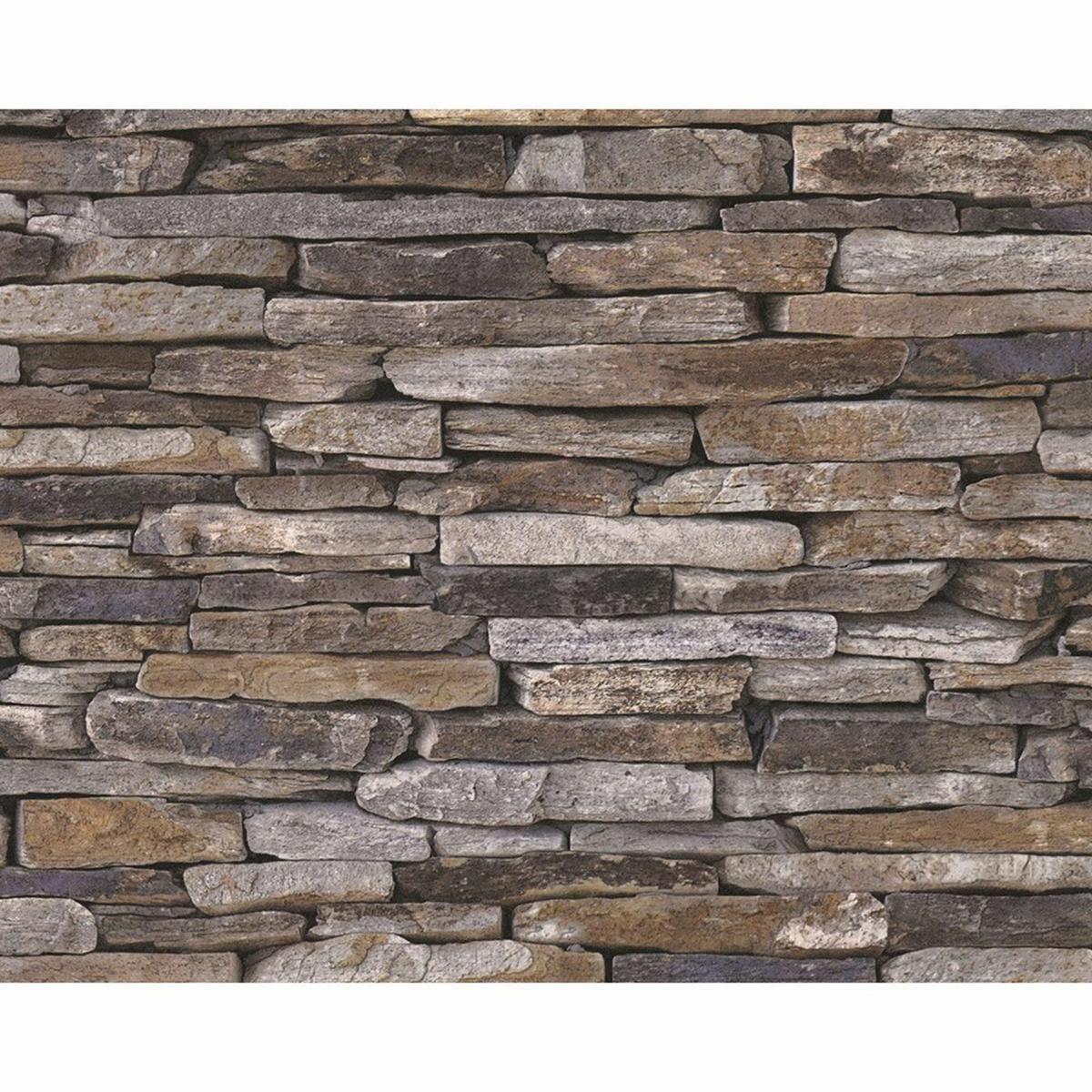 Brick Stone Effect Wallpaper … Stone wallpaper, Slate