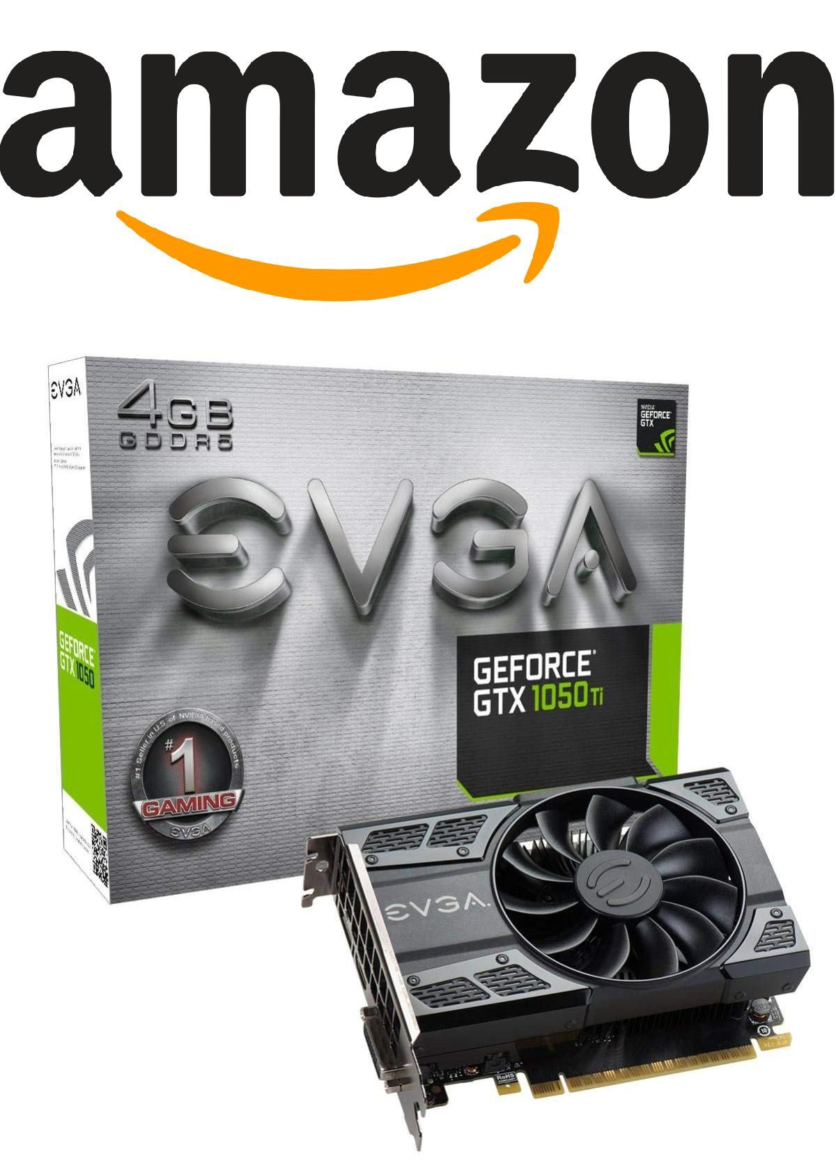 Evga Geforce Gtx 1050 Ti Gaming 4gb Gddr5 Dx12 Osd Support Pxoc Graphics Card 04g P4 6251 Kr Graphic Card Electronic Components Games
