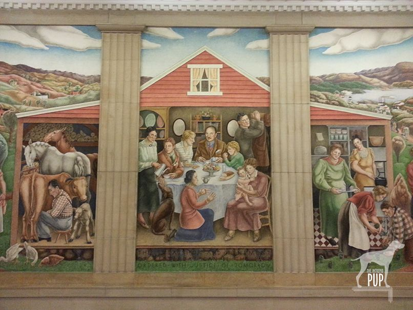 Society Freed Through Justice 1936 By George Biddle 1885 1973 Fresco U S Department Of Justice Building Washington Dc Art Pup Art Museum