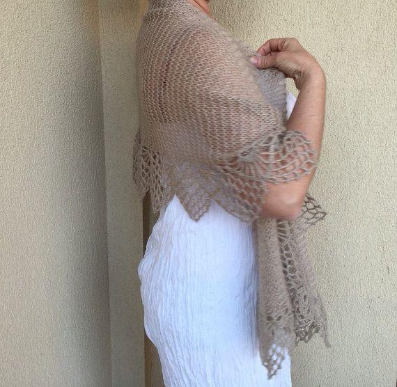 Spring summer shawl oatmeal knit shawl crochet wedding wrap